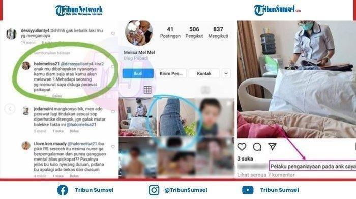 Tuduh Perawat Psikopat Kini Istri JT Pemukul Perawat RS Siloam Sriwijaya Kunci Akun Instagram