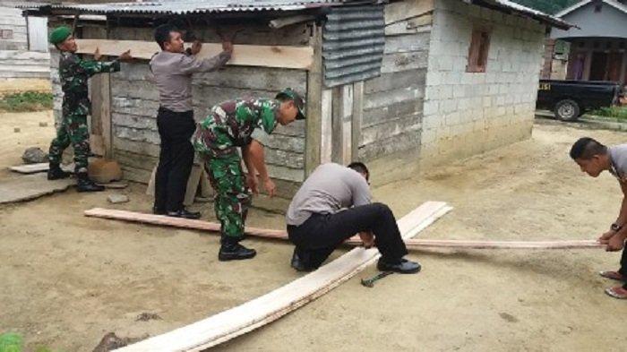 Lihat Rumah Warga Rusak, Ini yang Dilakukan Anggota TNI dan Polri di Namang