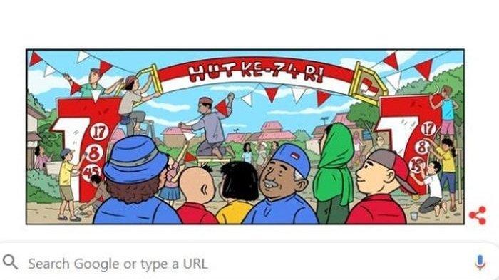 Google Rilis Doodle Spesial Semarak HUT Kemerdekaan RI 2014 hingga 2019