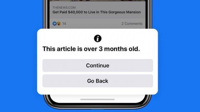 Facebook Peringatkan Pengguna Saat Akan
