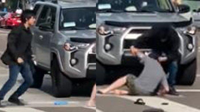 Lagi Viral Dua Pria Berkelahi Disebut Mahasiswa Indonesia dan Amerika, Netizen Tertawa