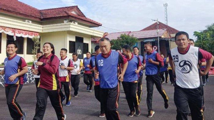 Kapolres Turut Ikut Dalam Tes Kesamaptaan Bagi Personel Polres Bangka Selatan