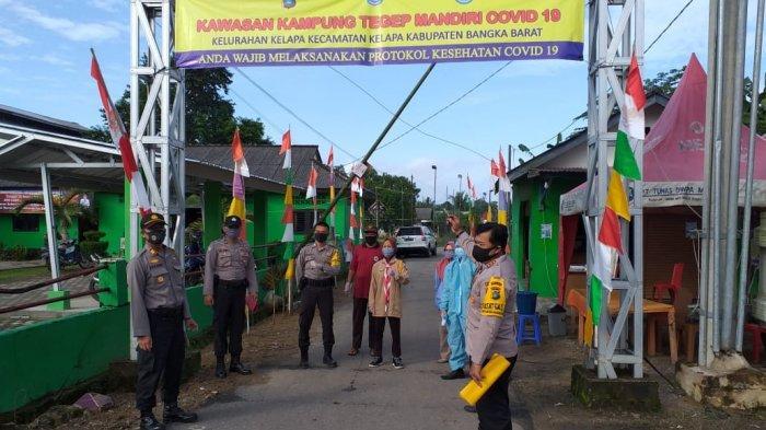 Polsek Kelapa Sosialisasikan Kampung Tegep Mandiri Covid-19, Wajib Pakai Masker dan Cek Suhu Tubuh