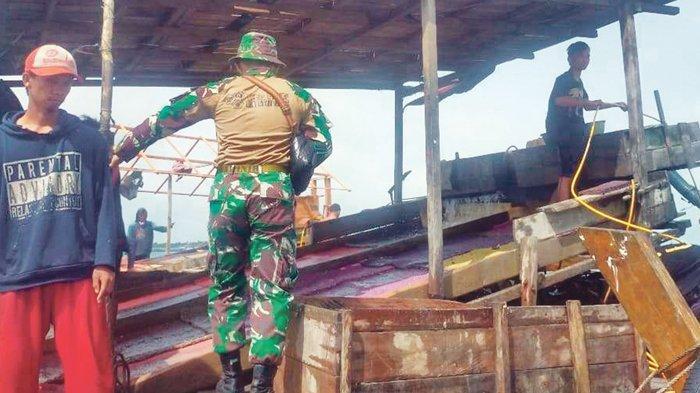 Posmat Belinyu Lanal Bangka Belitung Amankan TI Selam Ilegal
