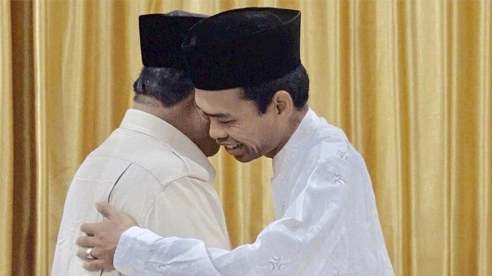 Ustaz Abdul Somad Beri Hadiah dan Ceritakan Mimpinya saat Bertemu Prabowo Subianto, Intip Videonya