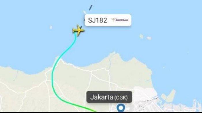 Terekam Flightradar,Di Sini Posisi Pesawat Sriwijaya Air SJY182 yang Hilang Kontak