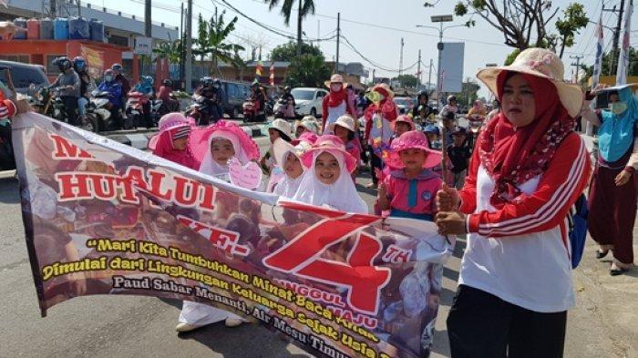 Jalan Koba Padat Merayap, Ada Karnaval HUT ke-74 Kemerdekaan RI