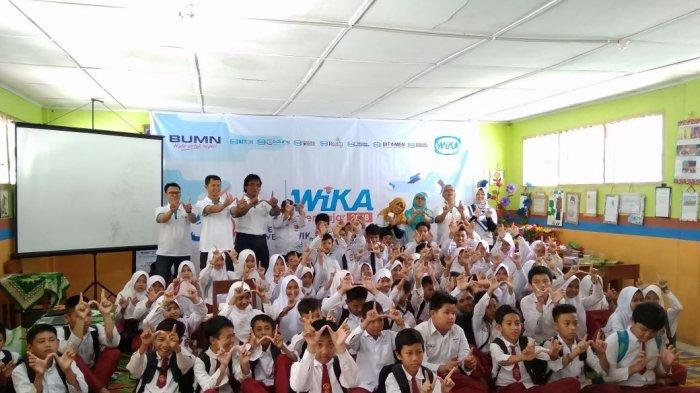 Peduli Dunia Pendidikan, PT WIKA Motivasi Pelajar SMP Muhammadiyah Muntok