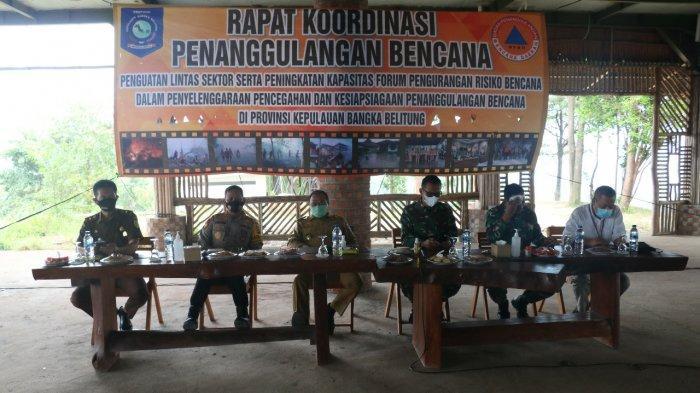 Rakor Penanggulangan Bencana Provinsi Bangka Belitung, Selasa (8/12).