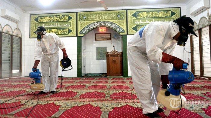 Hindari Penyebaran Virus Corona, DMI Bangka Belitung Bersih-bersih Masjid dan Mushollah