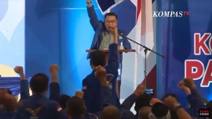 Pidato Perdana Moeldoko Jadi Ketum Versi KLB, Yakin Kekuatan Demokrat Bisa Menggemparkan Indonesia