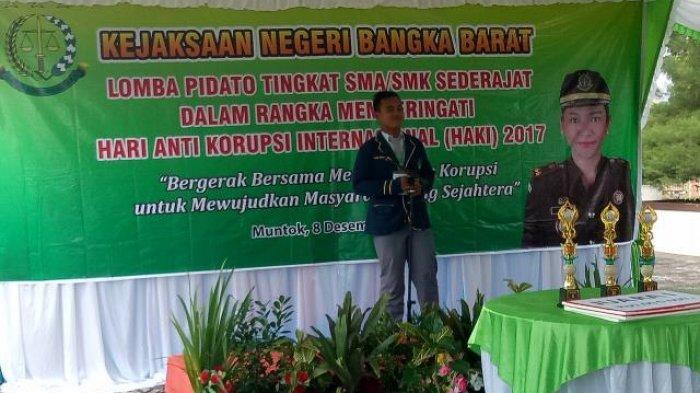 Peringati Hari Anti Korupsi (HAKI) Kejari Babar Gelar Lomba Pidato