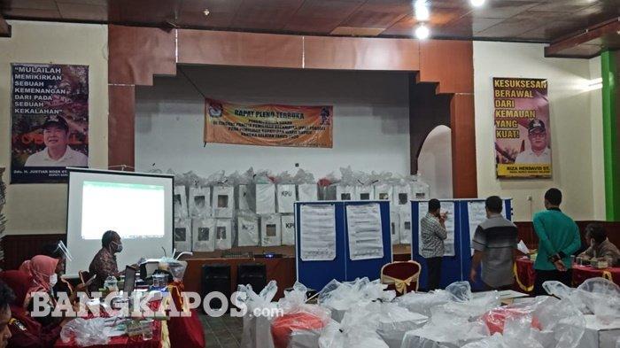 Pleno PPK Toboali Rampung, Pasangan Riza-Debby Raih 12.489 Suara