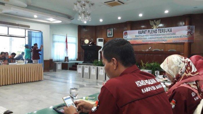 Hasil Pleno KPU Bangka, Pilkada Lancar Tapi Partisipasi Rendah