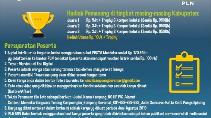 Batas Waktu Pendaftaran Lomba Kampoeng Bersinar diperpanjang hingga 20 Agustus