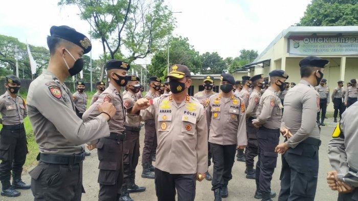 Kapolda Babel Kunjungan dan Cek Personil Dit Samapta BKO di Polda Metro Jaya