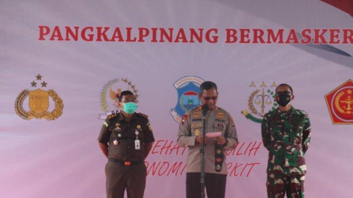 Kapolda Kepulauan Bangka Belitung Menyatakan Perang Melawan Covid-19