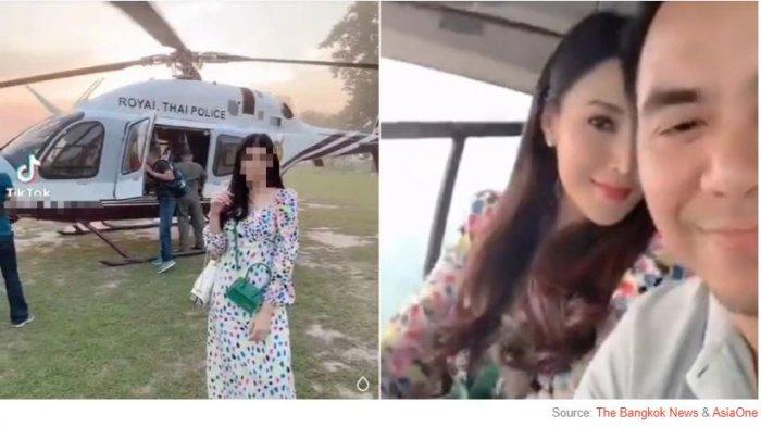 Gara-gara Istri Main TikTok di Helikopter, Pejabat Polisi Ini Langsung Dicopot Jabatannya