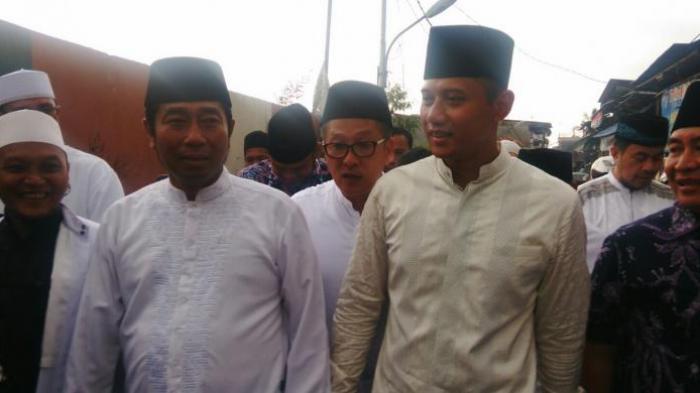 Tiba-tiba Haji Lulung Salat Jumat di Masjid Luar Batang Ketika Mengetahui Ada Agus Yudhoyono