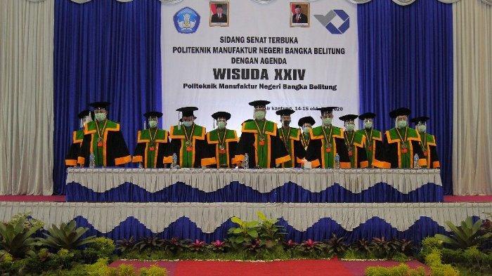 Polman Bangka Belitung Gelar Wisuda ke-24 Luluskan 156 Orang , Tetapkan Prokes Covid-19