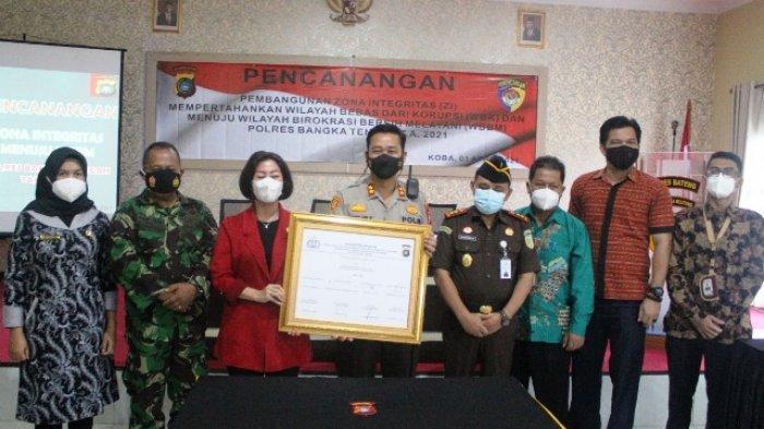 Polres Bangka Tengah Kembali Bangun Zona Integritas Pertahankan WBK Menuju WBBM