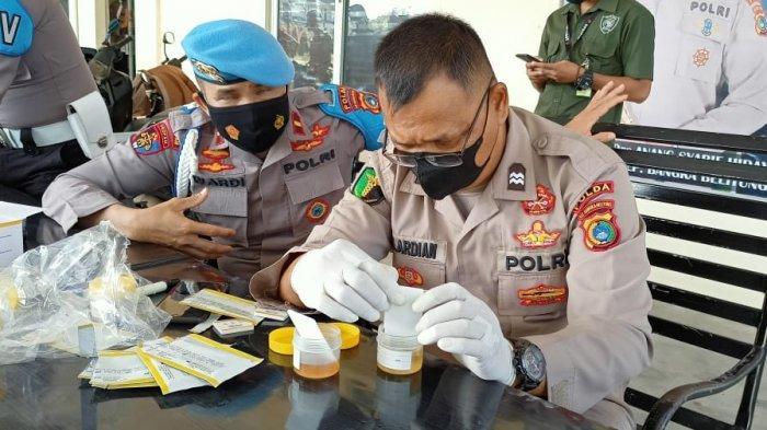 Mendadak, Sampel Urine Anggota Humas Polda Bangka Belitung Dicek, Ini Hasilnya