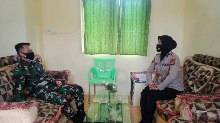 Wujudkan Sinergitas TNI-Polri, Kapolsek Sub Sektor Pulau Besar Silahturahmi Ke Koramil 413/03 Payung