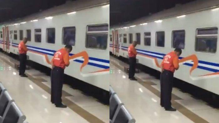 Ramai Beredar Video Porter Menunduk di Samping Kereta, KAI Beri Jawabannya