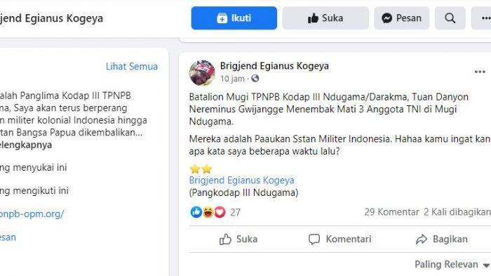 3 Prajurit TNI tertembak KKB