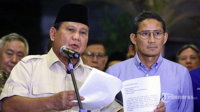 Sandiaga Uno Pilih Berada di Luar Pemerintahan, Tak Ingin Gabung ke Koalisi Jokowi-Maruf