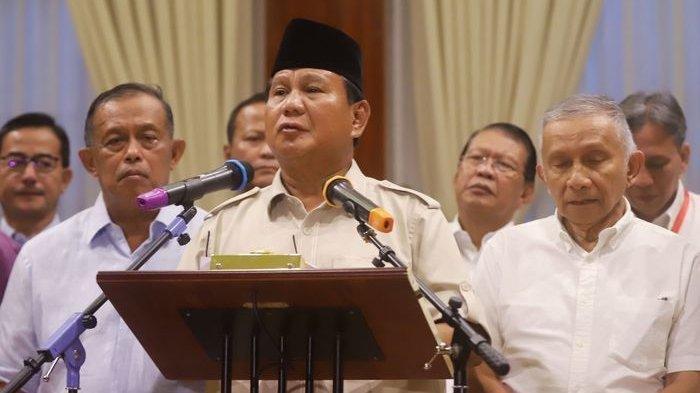 Prabowo Berkumpul Bersama Purnawiraan TNI-Polri Sampaikan Imbauan Untuk Pendukungnya