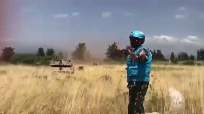 Tanpa Takut Pasukan TNI Adang 3 Tank Merkava Israel di Lebanon, Moncong Diarahkan Lalu Putar Balik