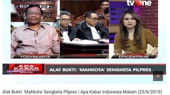 Mahfud MD Beberkan Cara Hakim Mahkamah Konstitusi Putuskan Sengketa Pilpres 2019