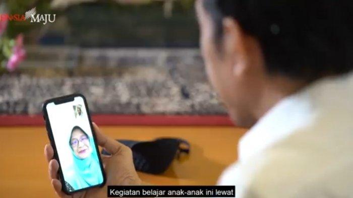Jokowi Video Call dengan Guru Rika dari Padang, Sejumlah Fakta dan Kesulitan Siswa Terungkap