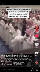 Detik-detik Pria Kepanasan dan Kesakitan Saat Imam Shalat Jumat Baca Ayat Alquran, Viral di Tiktok