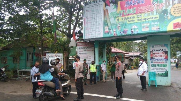 Jelang Libur Natal dan Tahun Baru, Petugas Gabungan di Belitung Perketat Prokes di Tempat Wisata