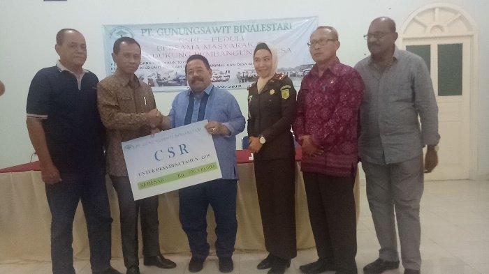 PT GSBL Serahkan Dana CSR Sebesar Rp 500,4 Juta untuk Empat Desa di Bangka Barat