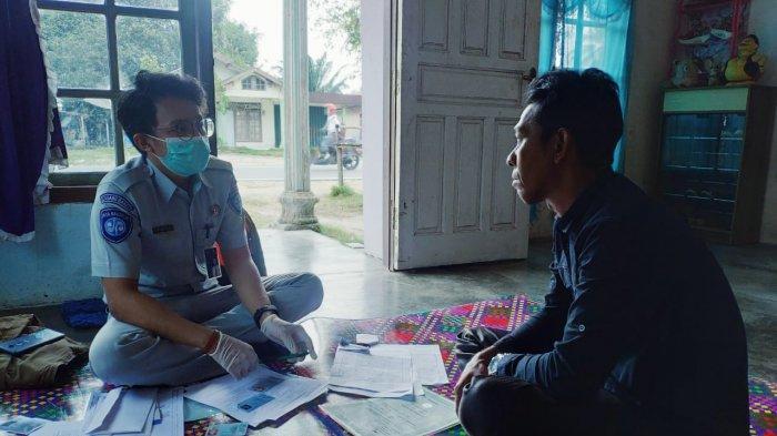 Jasa Raharja Babel Jemput Bola Serahkan Santunan Korban Kecelakaan Maut di Membalong Belitung (Minggu/28/02/2021).