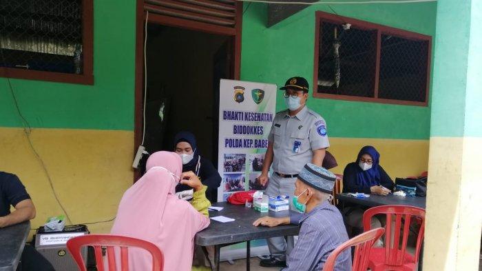 PT Jasa Raharja Cabang Kepulauan Bangka Belitung bersama Polda Kepulauan Bangka Belitung bersinergi memberikan pelayanan kesehatan gratis serta bakti sosial kepada masyarakat di Pulau Nangka, Kecamatan Sungaiselan, Kabupaten Bangka Tengah.
