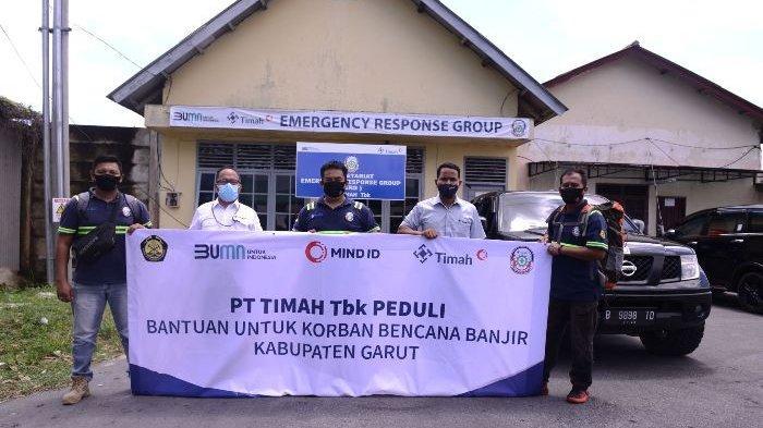 ERG PT Timah Salurkan Bantuan dan Berikan Pelayanan Kesehatan, Bantu Korban Banjir Garut