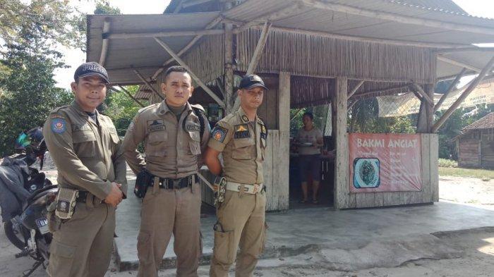 Sat Pol PP Bangka Patroli Keliling Pantau Rumah Makan yang Berjualan Tidak Gunakan Tabir