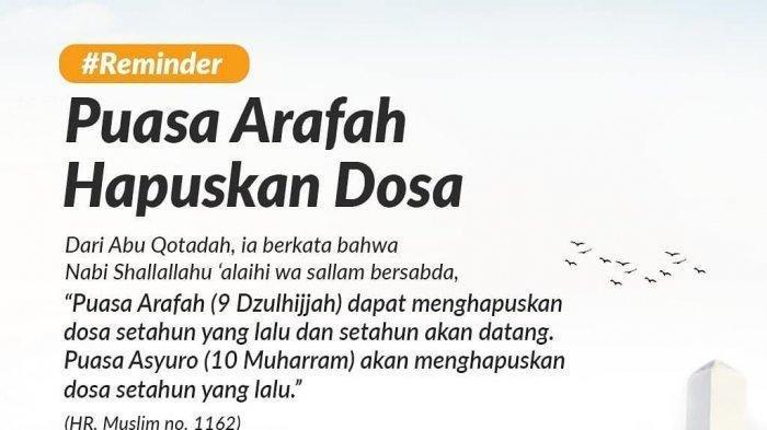 Jangan Lupa Besok, Kamis 30 Juli Puasa Arafah, Begini Niat dan Keutamaannya Jelang Idul Adha 2020