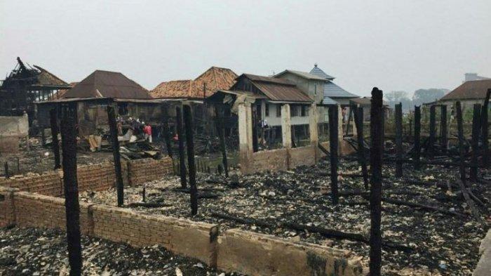 Rumah Tradisional Milik Orang Tua Kapolri Jenderal Tito Karnavian di Palembang Ludes Terbakar Api