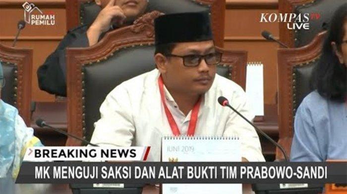 Rahmadsyah Sitompul Saksi Kubu Prabowo saat Sidang di MK Dijebloskan ke Penjara