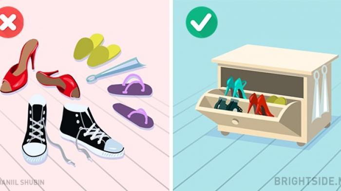 Ganggu Kenyamanan, Ini 6 Trik Hilangkan Bau Tak Sedap dari Rak Sepatu Tertutup
