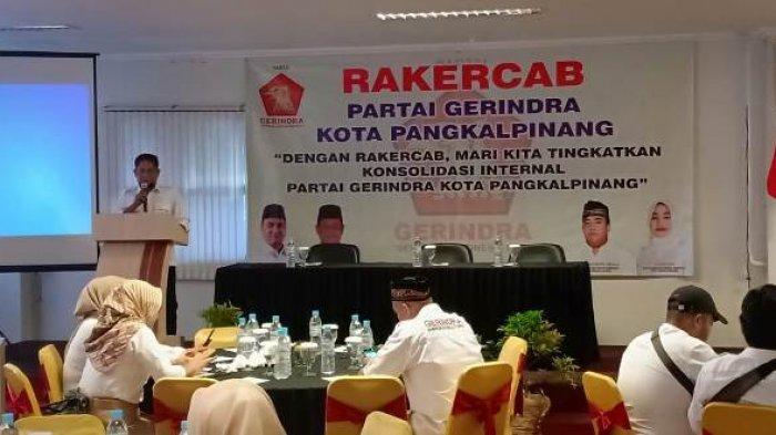Rakercab Gerindra, Achmad Subari Minta PAC dan Ranting Berjalan Efektif dan Tidak Ada Pengkhianat