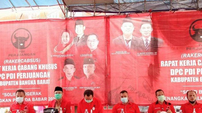 Rakercabsus DPC PDIP Babar, Rudianto Tjen Apresiasi ke Partai Pengusung