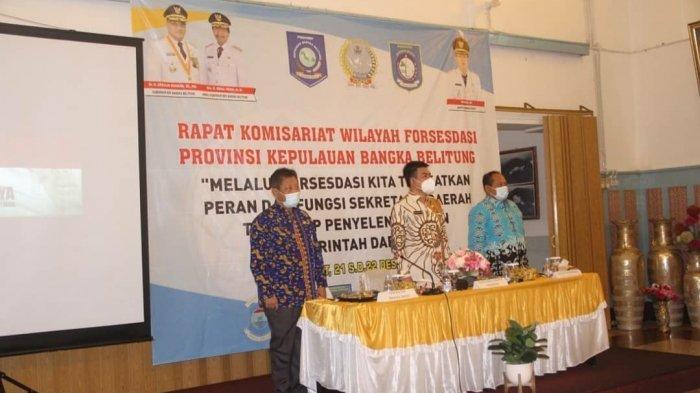 Rapat Komisariat Wilayah Forum Sekretaris Daerah Seluruh Indonesia (FORSESDASI) Provinsi Bangka Belitung di Kota Muntok Kabupaten Bangka Barat