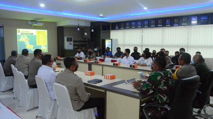 Suasana Evaluasi Hasil Pendidikan Oleh Lemhanas RI di Wilayah Polda Kep. Babel