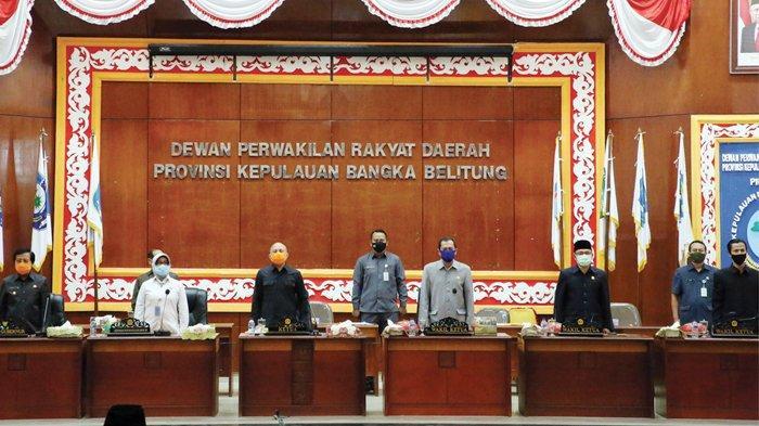 Rapat Paripurna DPRD Bangka Belitung Digelar Secara Online